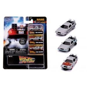 Jada Model Car Back To The Future BTTF Nano Ride 3-Pack Time Machine Ver. 1/2/3