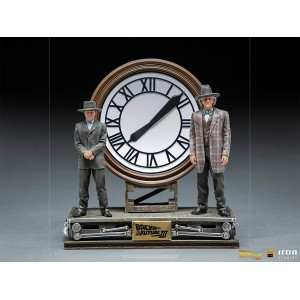 Iron Studios BTTF 3 MARTY AND DOC A/T CLOCK 1/10 ST