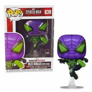 Funko POP Marvel Gameverse Spider-Man 839 Miles Morales(Purple Reign)