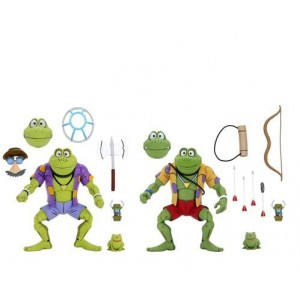 NECA Teenage Mutant Ninja Turtles TMNT Nickelodeon Rasputin & Genghis 2-Pack