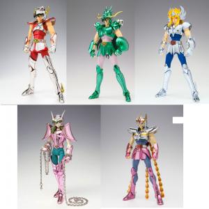 Bronze Saint First Bronze V1 Set di 5: Seiya Pegasus, Shiryu Dragon, Hyoga Cygnus, Shun Andromeda, Ikki Phoenix