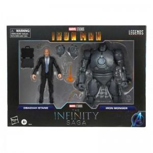 Hasbro Marvel Legends Series Iron Man The Infinity Saga Obadiah Stane & Iron Monger 2-Pack