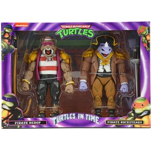 NECA TMNT 'Turtles In Time' Pirate Bebop & Pirate Rocksteady 2-Pack