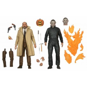 NECA HALLOWEEN 2 ULTIMATE MICHAEL MYERS & DR. LOOMS 2-PACK