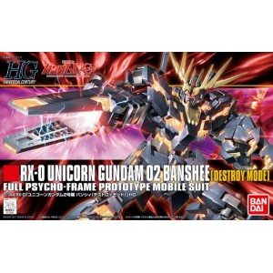 Bandai Gunpla High Grade HGUC 1/144 Gundam Unicorn 2 Banshee Destroy Mode