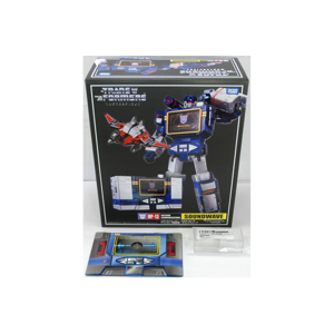 MP-13 Soundwave W/Laserbeak + Metal Coin + Amazon Exclusive Energon Cube