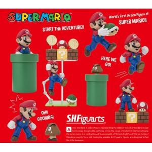 Bandai S.H.Figuarts Super Mario + Diorama Set A & B