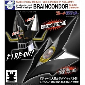 Evolution Toy Metal Action No. 02 Brain Condor W/Great Mazinger Head Black Version