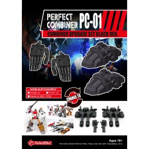 Perfect Effect PC-01 Combiner Wars Upgrade Set Black Version