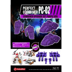 Perfect Effect PC-02 Combiner Wars Upgrade Set Purple Version
