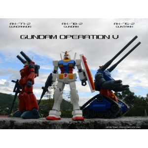 HGUC 1/144 Gundam Operation V Set di 3