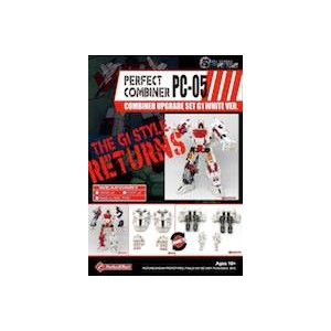 Perfect Effect PC-05 Combiner Wars Upgrade Set White Version