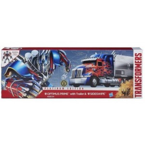 AOE Optimus Prime Leader Class With Trailer & Sideswipe DX Platinum Edition