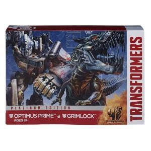 AOE Optimus Prime Evasion Mode & Grimlock Voyager Class 2-Pack Platinum Edition