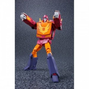Takaratomy Transformers Masterpiece vMP-28 Hot Rodimus + Metal Coin